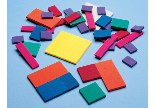 Didax Easyshapes Fraction Squares, set of 51 pcs