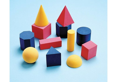 Didax Easyshapes Geometric Solids, 12 pcs