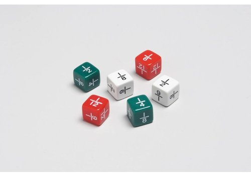 Didax Fraction Dice, 6 Pcs