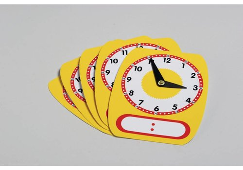 Didax Write-On/Wipe-Off Clocks (5)