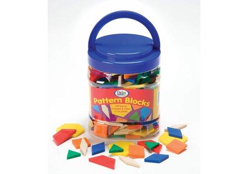 Didax Pattern Blocks, Plastic, 250 ct.