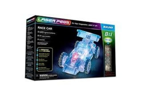LASER PEGS VENTURES Laser Pegs - RACE CAR 8 in 1