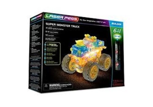 LASER PEGS VENTURES Laser Pegs- SUPER MONSTER TRUCK 3 in 1