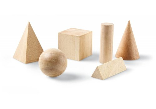 Learning Resources Wooden Geometric Solids, Set of 6