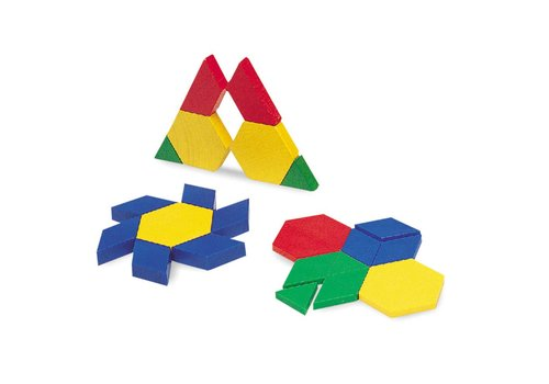 Learning Resources 0.5 Plastic Pattern Blocks, Set of 250