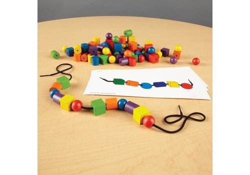 Learning Resources Beads & Pattern Card Set *