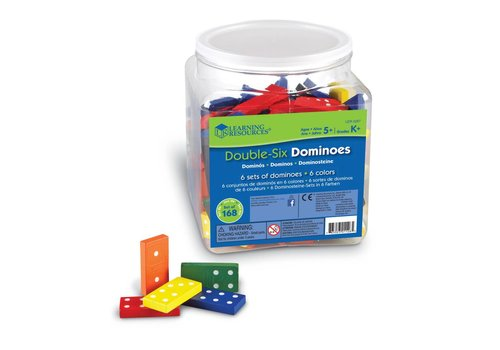 Learning Resources Double-Six Dominoes, Set of 168