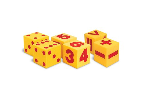 Learning Resources Giant Soft Foam Cubes Class Set, Set of 6