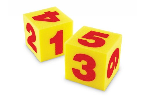 Learning Resources Giant Soft Foam Numeral Cubes, Set of 2