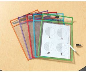 Learning Resources Write /& Wipe Center Signs Set of 5 Inc LER0482