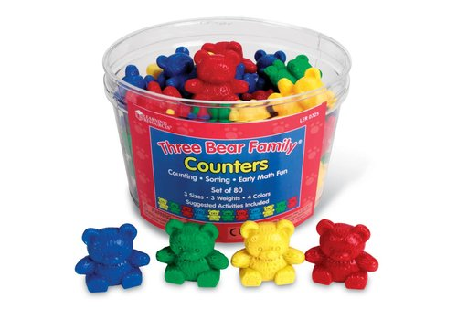 Learning Resources Three Bear Family Counters, Set of 80