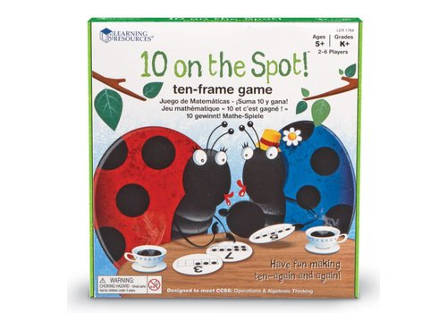 Learning Resources 10 on the Spot! Ten-Frame Game