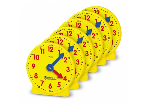 "Learning Resources Big Time 4"" Mini Clocks, Set of 6"