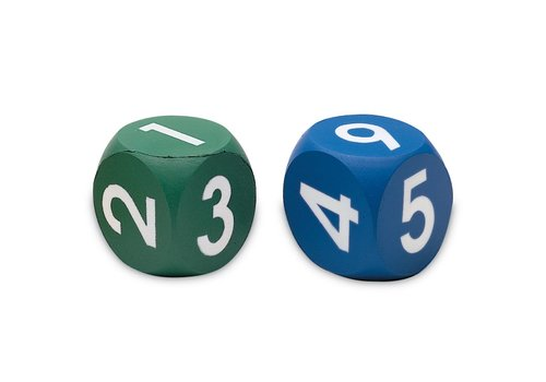 Learning Resources Soft Foam Number Dice, Set of 2