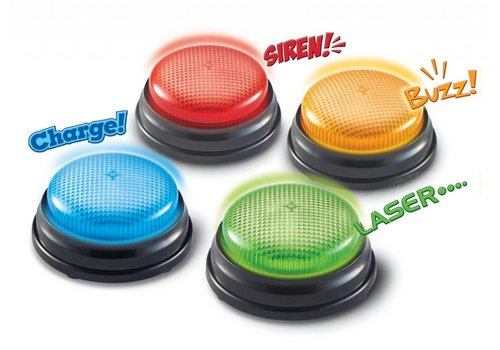 Learning Resources Lights & Sounds Answer Buzzers, Set of 4 *