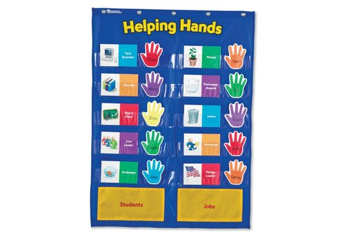 Learning Resources Helping Hands Job Pocket Chart