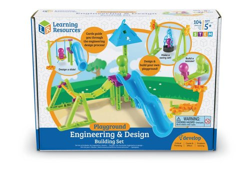 Learning Resources Engineering & Design Building Set - PLAYGROUND
