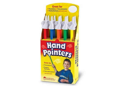 Learning Resources Rainbow Hand Pointers - sold individually *