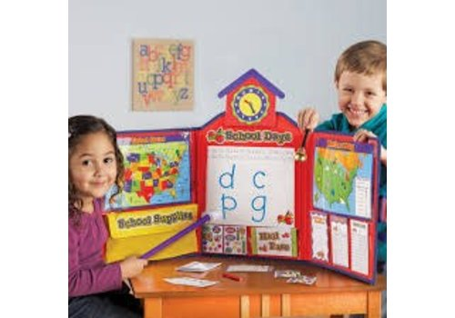Learning Resources Pretend & Play School Set with Canadian Map *