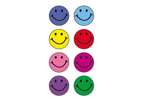 Teacher Created Resources Colourful Happy Faces Mini Stickers