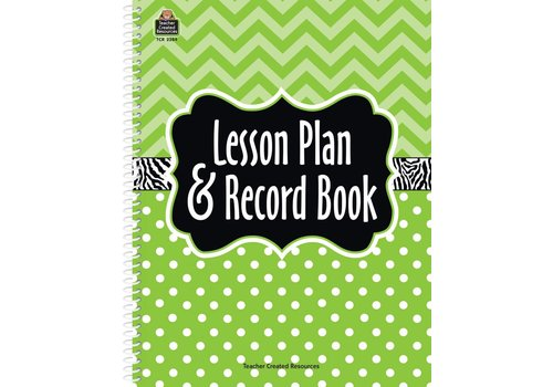 Teacher Created Resources Lime Chevrons and Dots Lesson Plan & Record Book