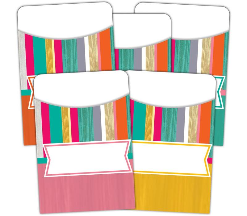 Tropical Punch Library Pockets (D) *
