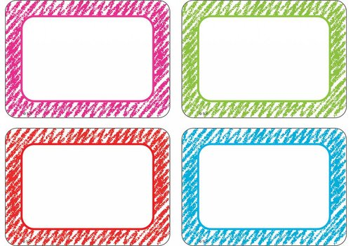 Teacher Created Resources Scribble Name Tags/Labels - Multi-Pack