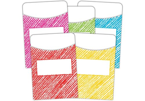 Teacher Created Resources Scribble Library Pockets - Multi-Pack