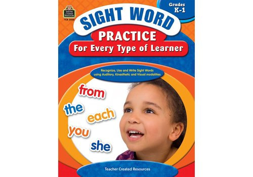 Teacher Created Resources Sight Word Practice for Every Type of Learner (Gr. K-1)