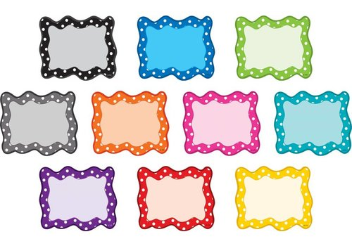 Teacher Created Resources Polka Dots Blank Cards Mini Accents
