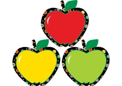 "Creative Teaching Press Poppin' Patterns Apples 6"" Cut Outs *"