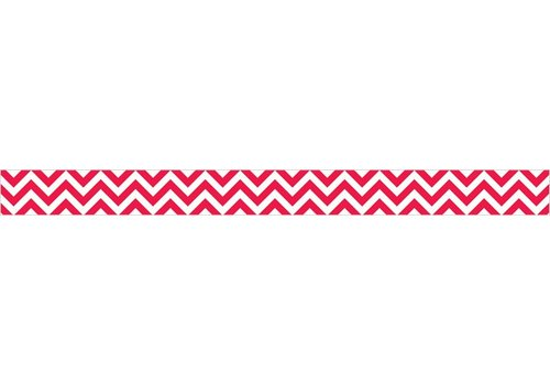 Creative Teaching Press Poppy Red Chevron Border