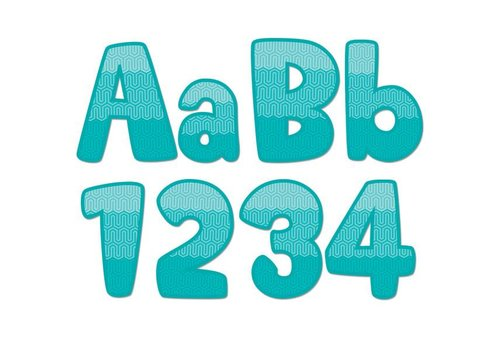 """Creative Teaching Press Painted Palette Ombre Turquoise Maze 4"""" Designer Letters"""
