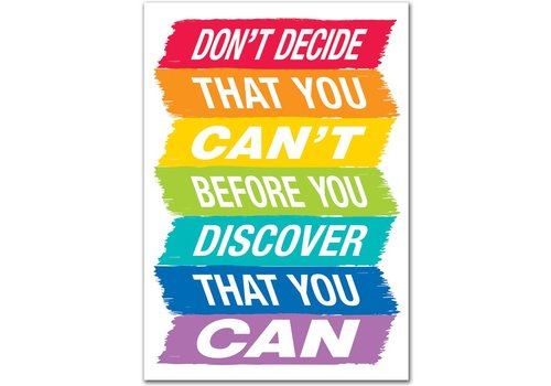 Creative Teaching Press Don't Decide That You Can't... Inspire U Poster