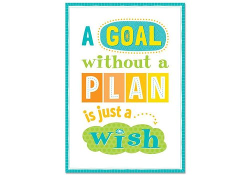 Creative Teaching Press A goal without a plan... Inspire U Poster