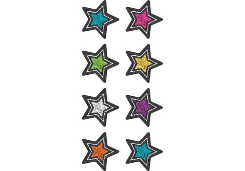 Teacher Created Resources Chalkboard Brights Stars Mini Stickers *