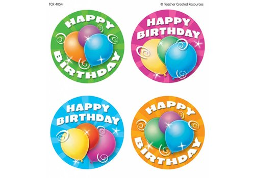 Teacher Created Resources Happy Birthday Ribbons Wear 'Em Badges