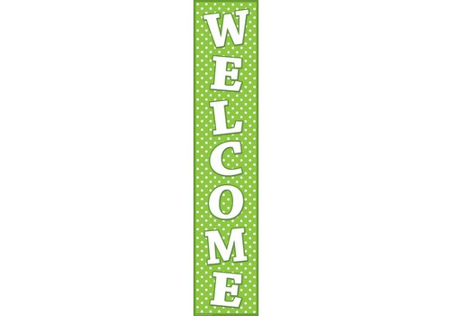 Teacher Created Resources Lime Polka Dot Welcome Banner