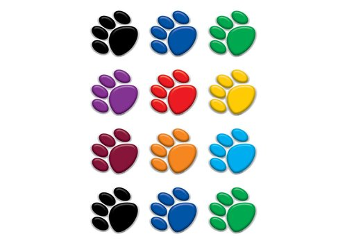 Teacher Created Resources Colorful Paw Prints Mini Accents
