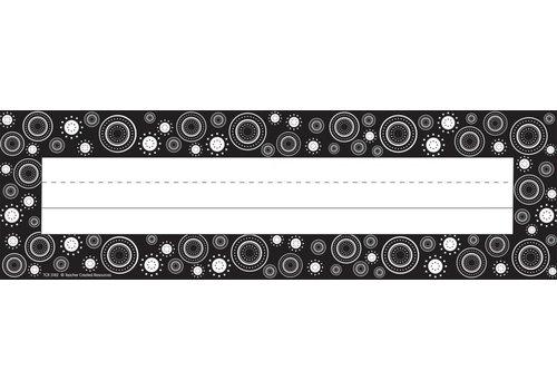 Teacher Created Resources Black & White Swirls Name Plates