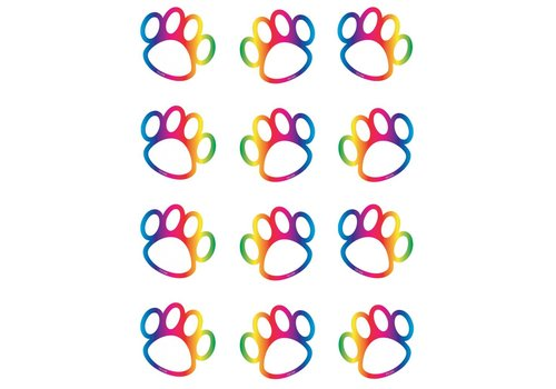 Teacher Created Resources Rainbow Paw Prints Mini Accents