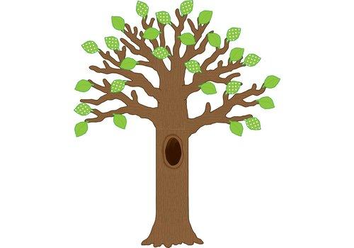 Teacher Created Resources Big Tree with Polka Dot Leaves Bulletin Board *