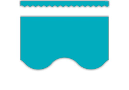 Teacher Created Resources Teal Scalloped Border Trim *