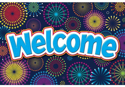 Teacher Created Resources Fireworks Welcome Postcards
