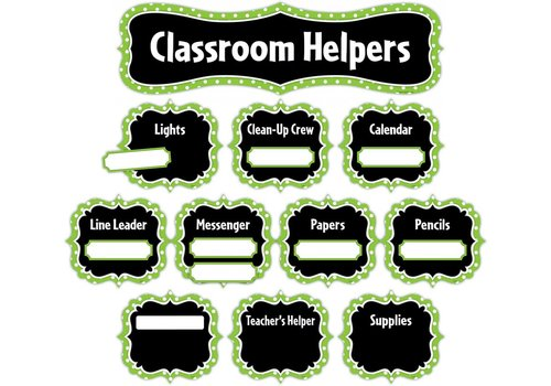 Teacher Created Resources Lime Polka Dots Classroom Helpers Mini Bulletin Board