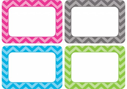 Teacher Created Resources Chevron Name Tags/Labels - Multi-Pack
