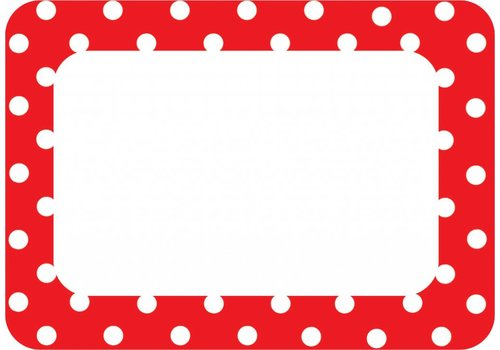 Teacher Created Resources Red Polka Dots Name Tags/Labels