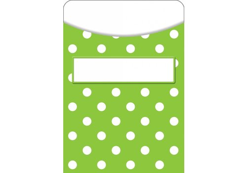 Teacher Created Resources Lime Polka Dots Library Pockets