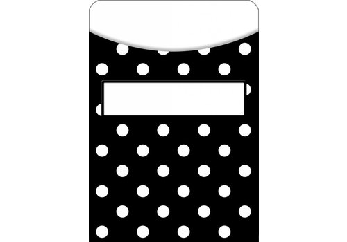 Teacher Created Resources Black Polka Dots Library Pockets