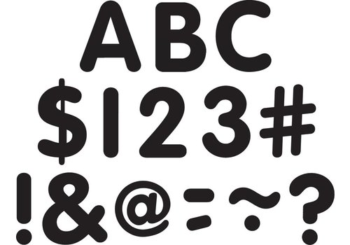 """Teacher Created Resources Black Classic 2"""" Letters Uppercase Pack"""